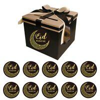 60 PCS Eid Mubarak Decor Paper Sticker Label Seal Gift Islamic Ramadan DE LO