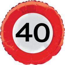 Palloncini rosso numero compleanno adulto per feste e party