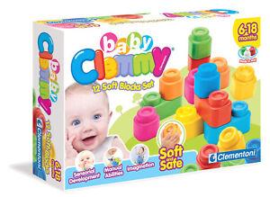 12 Mattoncini Morbidi Clementoni 14706 6-18m Blocchi per Costruzioni Baby Clemmy
