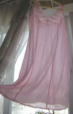 Vintage Ultra Sheer Pink Elegant Full Slip L