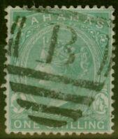 Bahamas 1898 1s Blue-Green SG44a Fine Used