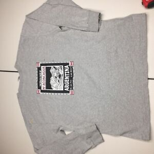 the north face vintage 90s mt aconcagua argentina long sleeve t shirt mens XL