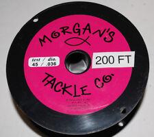 New 200 foot spool Morgan's Tackle 45 lb Supper Copper Trolling line