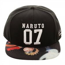 NARUTO UZUMAKI 07 SHIPUDDIN SUBLIMATED BILL SNAPBACK HAT CAP CARTOON LOGO NWT