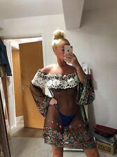 Monaco Embroidered Kaftan Kimono Cover Up Beach Dress Bnwt One Size
