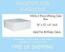 "16"" x 12"" x 6"" Inch Oblong 2 Piece Cake Box Variation"