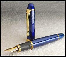 Edler Füller * M FEDER 18K VERGOLDET * BLAU / GOLD * Fountain Pen