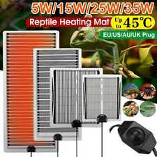 5W/15W/25W/35W Reptile Temperature Heater Mat Waterproof Lizard Tank Heating Pad