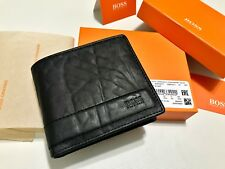 HUGO BOSS WALLET '50374211' 'DUNE_4CC' BIFOLD BLACK LEATHER NOTE COIN GIFT BOXED