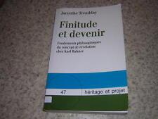 1992.finitude et devenir / Tremblay.philosophie Karl Rahner