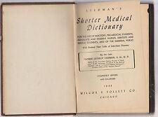 Stedman's Shorter Medical Dictionary-Thomas Lathrop Stedman  1943