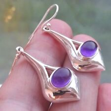 Superb Sterling Silver and Amethyst Dangley Drop Ear Rings