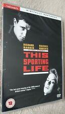 THIS SPORTING LIFE (1963) Richard Harris Rachel Roberts UK R2 DVD - NEW & SEALED