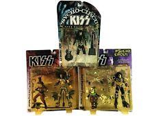 Kiss Psycho Circus Gene Simmons Ring Master Paul Jester Lot of 3 McFarlane 1998