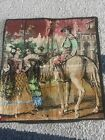 small vintage tapestry spanish theme
