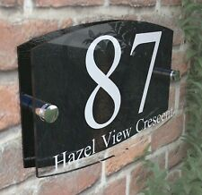 bdf73ffd7d34 Contemporary House Sign Plaque Door Number 1 - 999 Personalised Name Plate