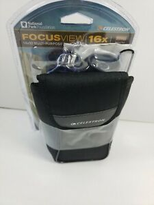 NEW Celestron Focusview 16x32 Binocular Model #71190 Open Box