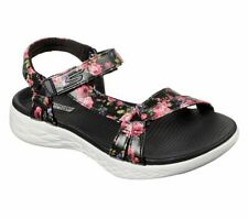 Skechers Floral Sandals Womens On The Go 600 Fleur Strap Flower Summer Shoes