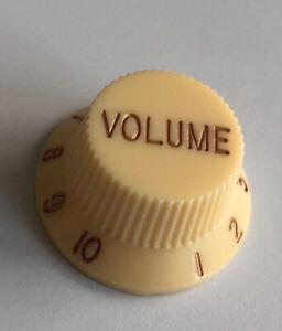 Volume Knob / Lautstärke-Knopf Strat (Cream,New Look) Neu!