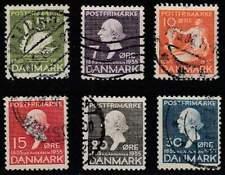 Denemarken gestempeld 1935 used 222-227 - Hans Christian Andersen