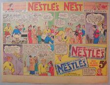Nestle's Chocolate Bars Ad: Original Paper 1930's-1940's Size = 11 x 15 inches
