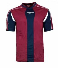 NEW Mens XL Umbro Evo Training Top T Shirt RED NAVY Football Gym Running BLUE