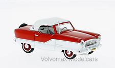 wonderful modelcar NASH METROPOLITAN CONVERTIBLE 1959 - red/white -  1/43
