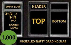 1,000  EMPTY PROFESSIONAL Unsealed Graded Card Slabs HOLDER for GRADING NEW