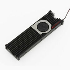 M.2 NGFF NVMe 2280 PCI-E SSD Black Heatsink Cooler Radiator Fin + Cooling Fan
