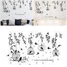 Black Tree Bird Cage Removable Art Vinyl Wall Sticker Home Decor Mural Decal