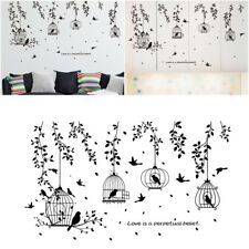 Black Tree Bird Cage Removable Art Vinyl Wall Sticker Home Decor Mural Decal