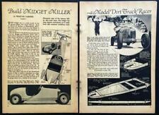 Midget Miller Dirt Track Racer 1935 HowTo build Plans & Movie Star Trailer plans