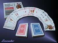 Romme Spielkarten Karten Set 2x 55 Französisches Blatt Canasta Poker Bridge Skat