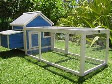 Chicken Coop Somerzby Blue Cottage Rabbit Hutch Guinea pig Wooden cage large run