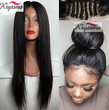 "12"" Human Hair Lace Wigs Indian Remy Hair Straight Lace Front Wig With Baby Hair"