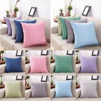 Cotton Linen Throw Pillow Case Back Cushion Cover Sofa Decor Pillowcase 34CA