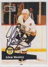 Autographed 91/92 Pro Set Glen Wesley - Bruins