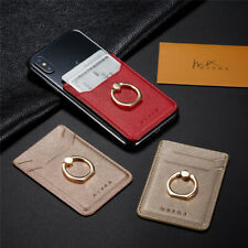 Ring Holder Stand Sticker Wallet Adhesive Case For iPhone Samsung Card Pouch