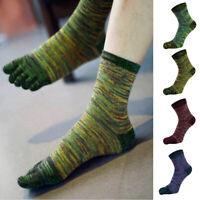 Mens Casual Five Fingers Toe Socks Breathable Winter Autumn Warm Anklets Socks