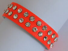 Crystal Leather Costume Bracelets without Metal