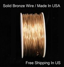 BRONZE Wire 26 Ga  450 Ft.( SOFT ) Quality Round Craft Wire 5 Oz Spool  US Made