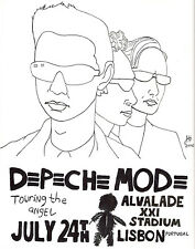 "Depeche Mode ""Touring The Angel"" 2006 Lisbon Concert Poster - Synthpop, New Wave"