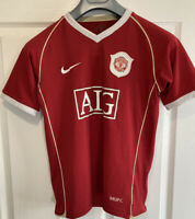 Manchester United AIG  Vintage Football Shirt size  XL Youth Age 12 / 13