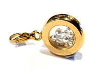 Bijou alliage doré pendentif breloque roue avec petites perles charm''s sac main