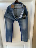 NWT $229 True Religion GENO 44x34 Relaxed No Flap Slim Fit Jeans