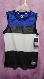 NEW♈Boy's Mesh athletic Jersey by AND 1 size L (10-12)~black/white/royal block