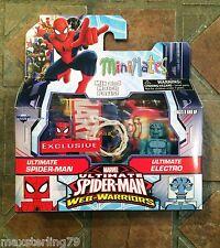 Marvel Minimates ULTIMATE SPIDER-MAN & ELECTRO Web Warriors Animated Walgreens