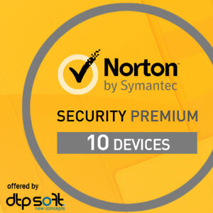 Norton Security Premium 2020 10 Appareils 10 PC 1 an-PC MAC Internet 2021 FR EU