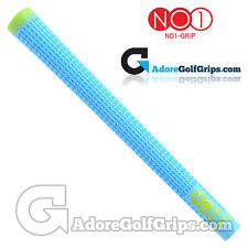 NO1 Grip 48 Series - Standard Size - Golf Grips - Soda Blue / Lime Green x 1