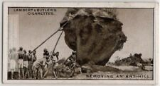 Natives Removing A Termite White Ant Hill Rhodesia Africa 1930s Trade Ad Card
